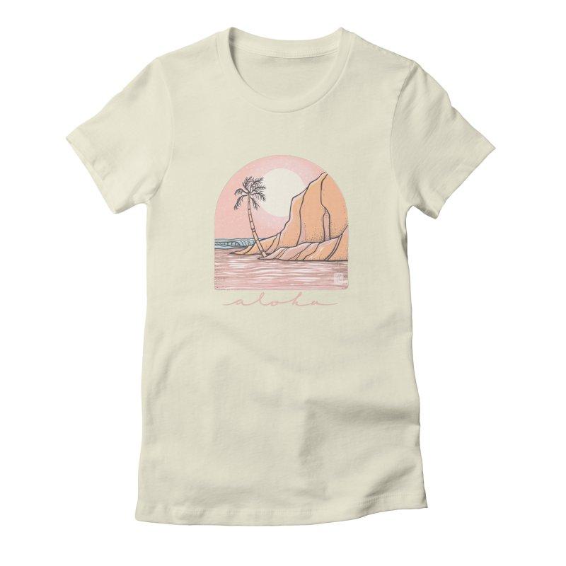 Moon Over Aloha Women's T-Shirt by Chapman at Sea // surf art by Tash Chapman