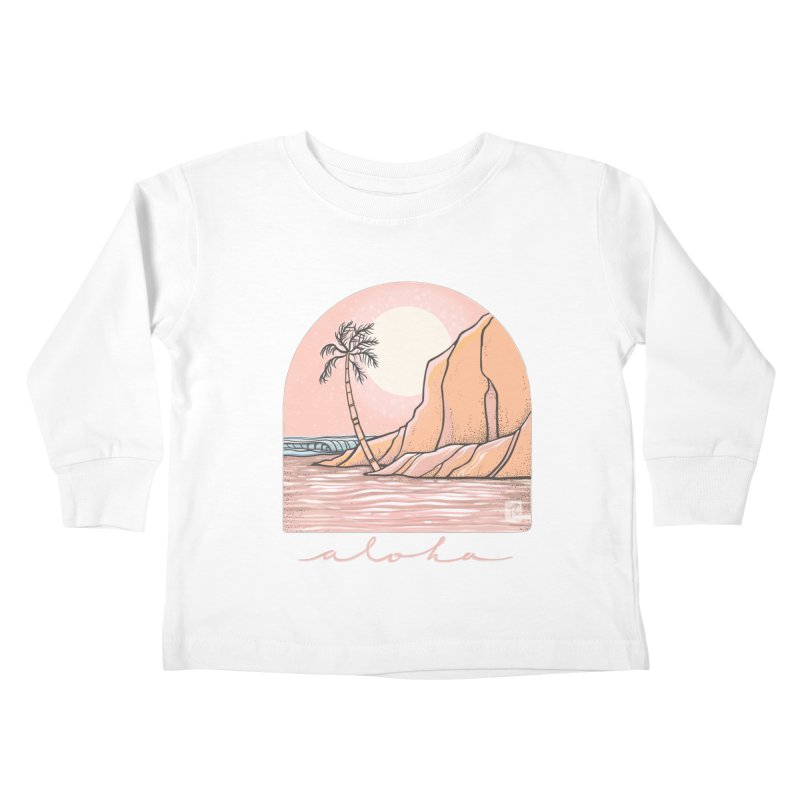 Moon Over Aloha Kids Toddler Longsleeve T-Shirt by Chapman at Sea // surf art by Tash Chapman