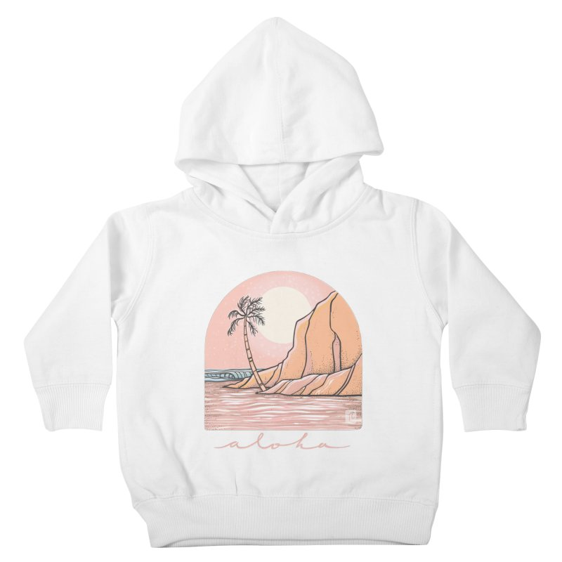 Moon Over Aloha Kids Toddler Pullover Hoody by Chapman at Sea // surf art by Tash Chapman