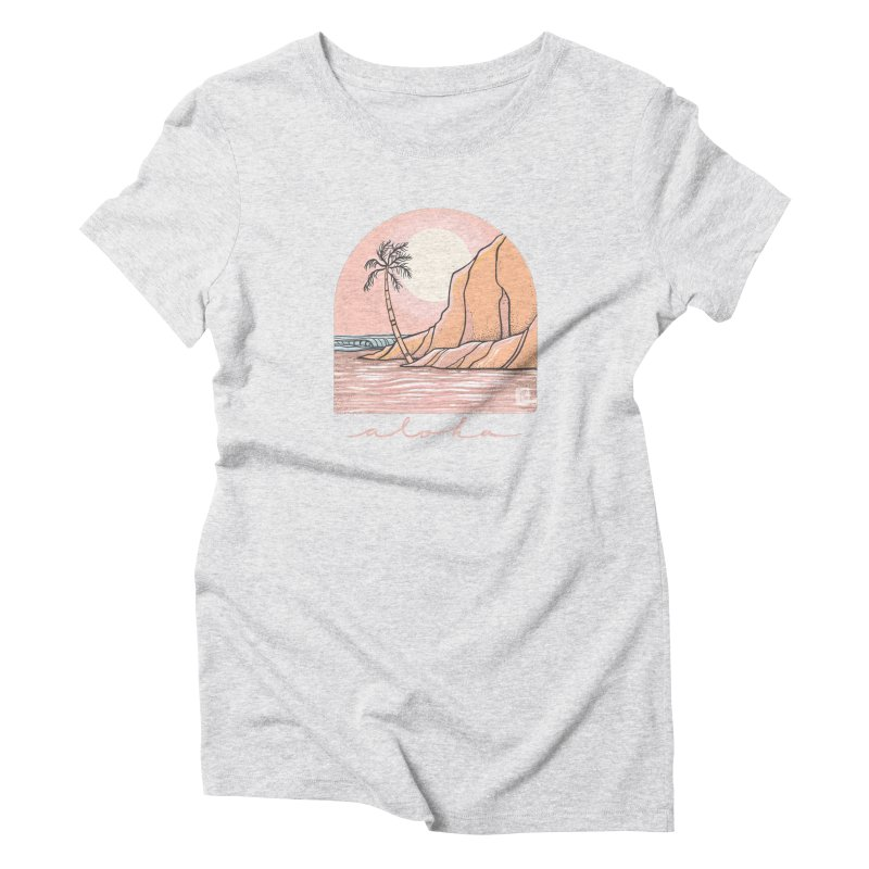 Moon Over Aloha Women's T-Shirt by Chapman at Sea // surf art by Tash Chapman