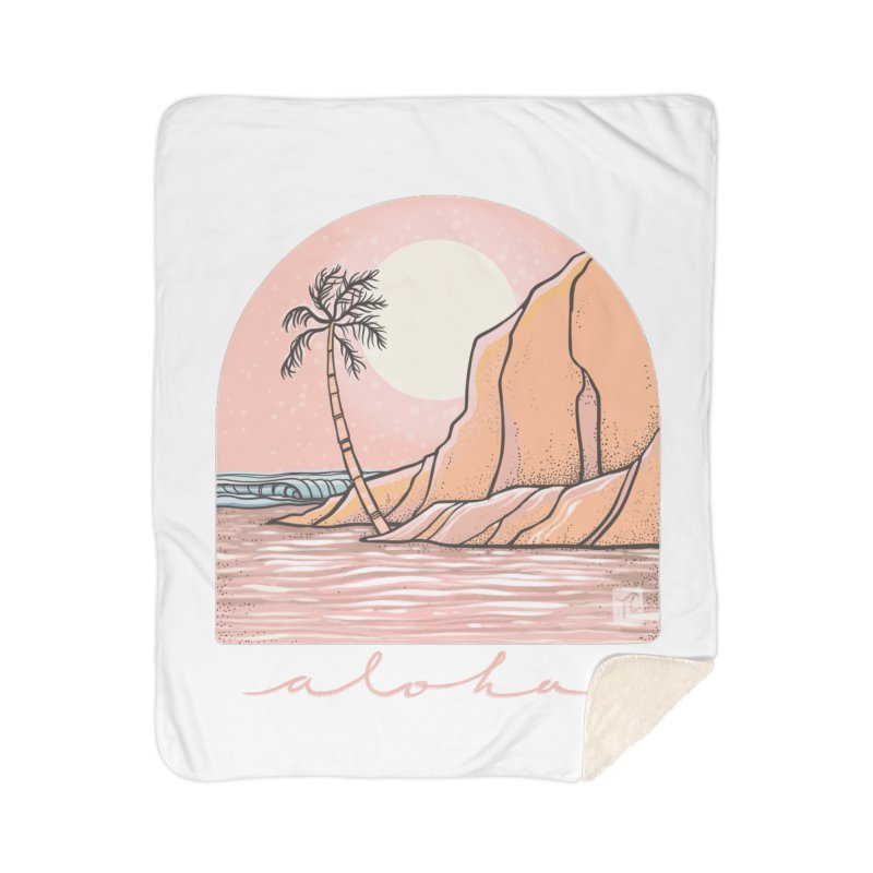 Moon Over Aloha Home Blanket by Chapman at Sea // surf art by Tash Chapman
