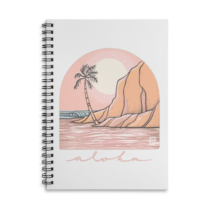 Moon Over Aloha Accessories Notebook by Chapman at Sea // surf art by Tash Chapman