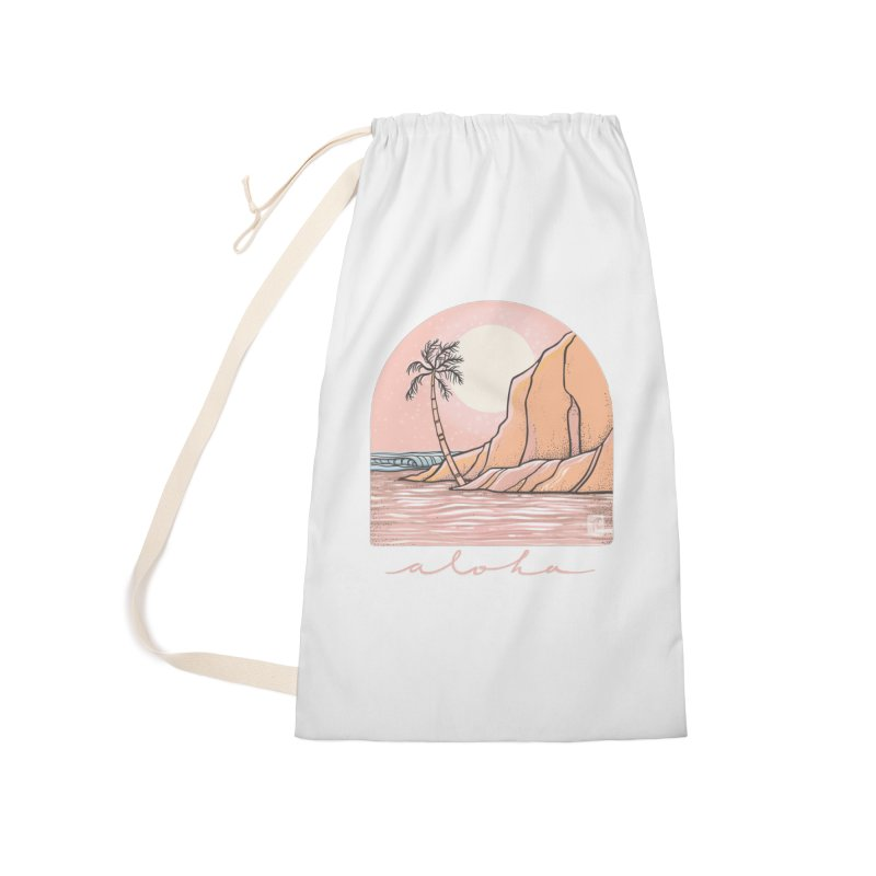 Moon Over Aloha Accessories Bag by Chapman at Sea // surf art by Tash Chapman