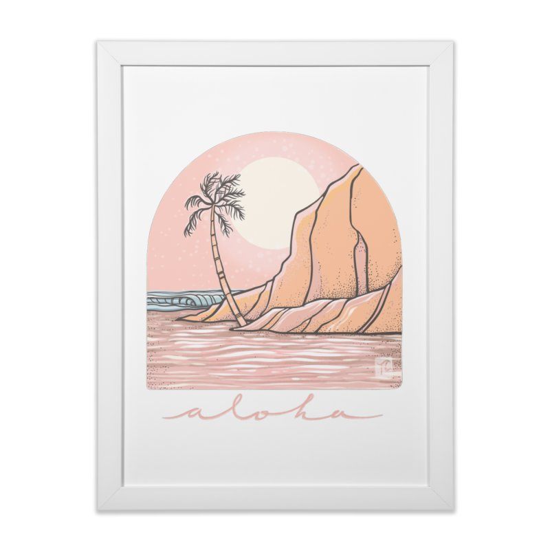 Moon Over Aloha Home Framed Fine Art Print by Chapman at Sea // surf art by Tash Chapman
