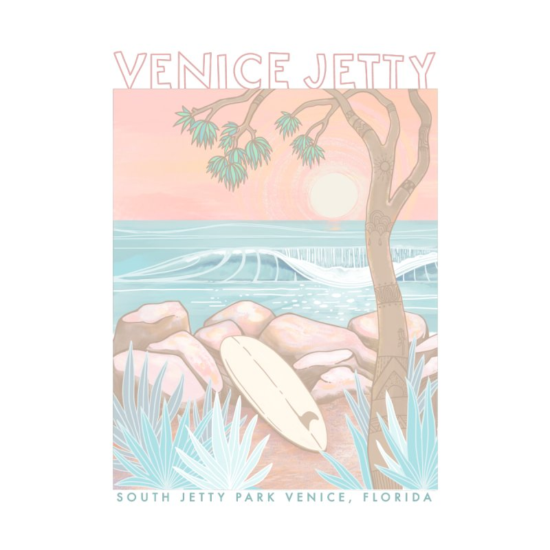 Venice Jetty Women's T-Shirt by Chapman at Sea // surf art by Tash Chapman