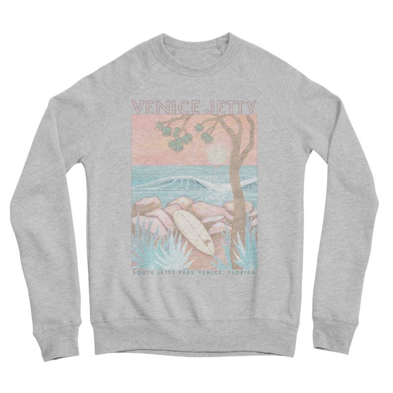 Venice Jetty Men's Sweatshirt by Chapman at Sea // surf art by Tash Chapman