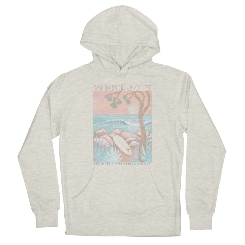 Venice Jetty Men's Pullover Hoody by Chapman at Sea // surf art by Tash Chapman