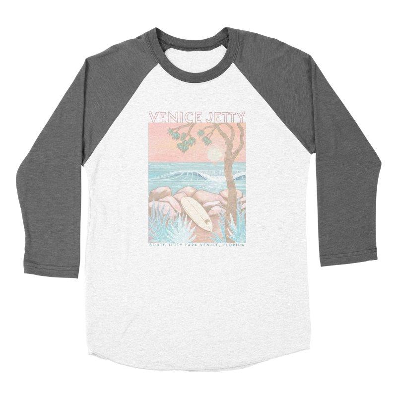 Venice Jetty Women's Longsleeve T-Shirt by Chapman at Sea // surf art by Tash Chapman