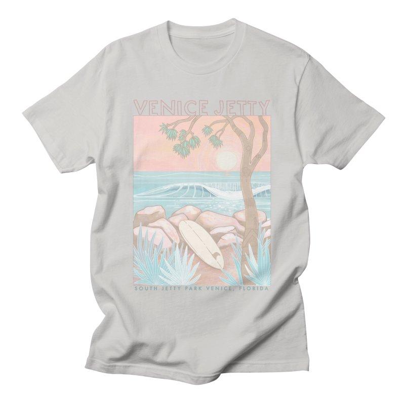Venice Jetty Men's T-Shirt by Chapman at Sea // surf art by Tash Chapman