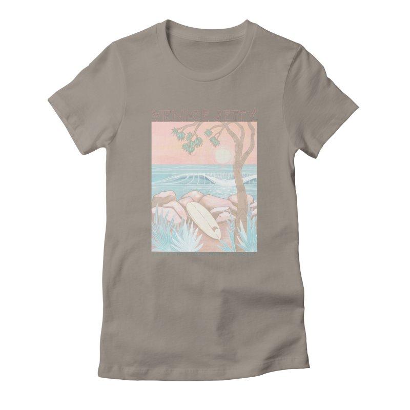 Venice Jetty Women's T-Shirt by Chapman at Sea // surf art by Tash Chapman