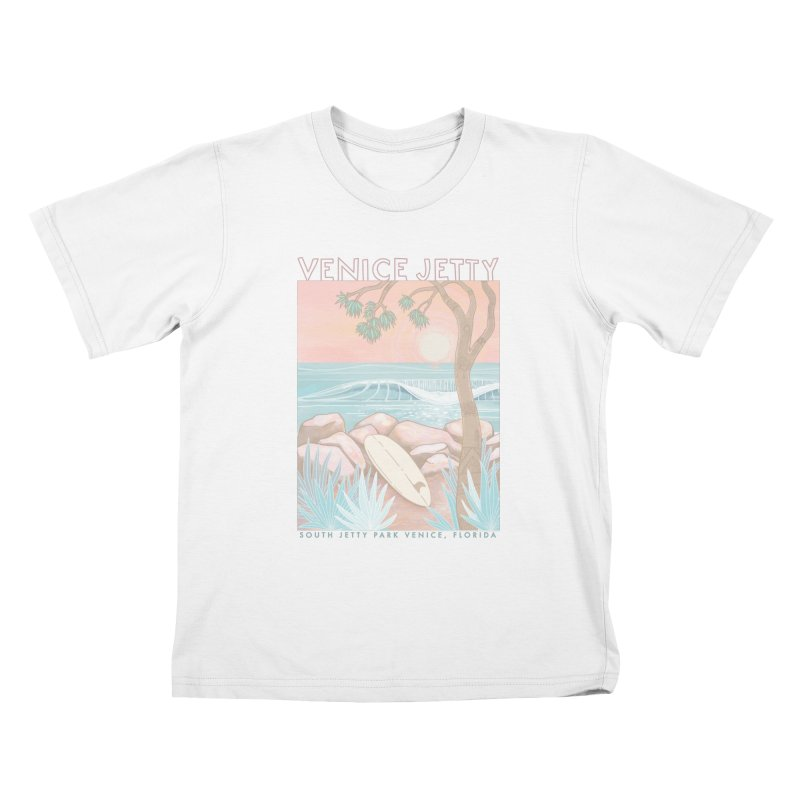 Venice Jetty Kids T-Shirt by Chapman at Sea // surf art by Tash Chapman