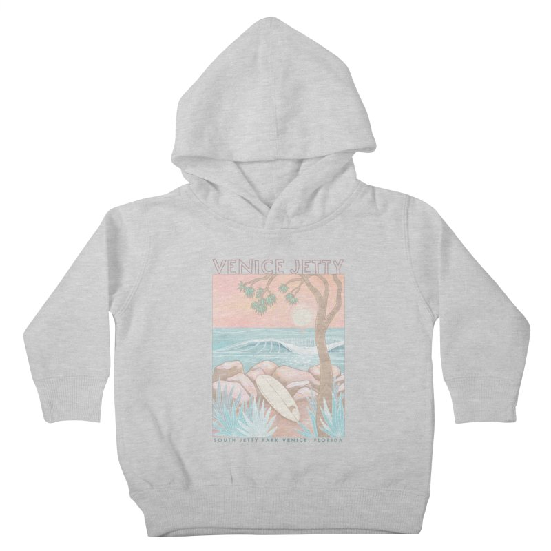 Venice Jetty Kids Toddler Pullover Hoody by Chapman at Sea // surf art by Tash Chapman