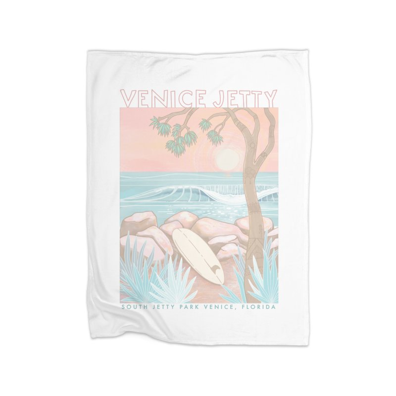 Venice Jetty Home Blanket by Chapman at Sea // surf art by Tash Chapman