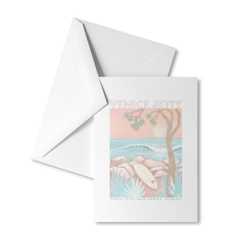 Venice Jetty Accessories Greeting Card by Chapman at Sea // surf art by Tash Chapman