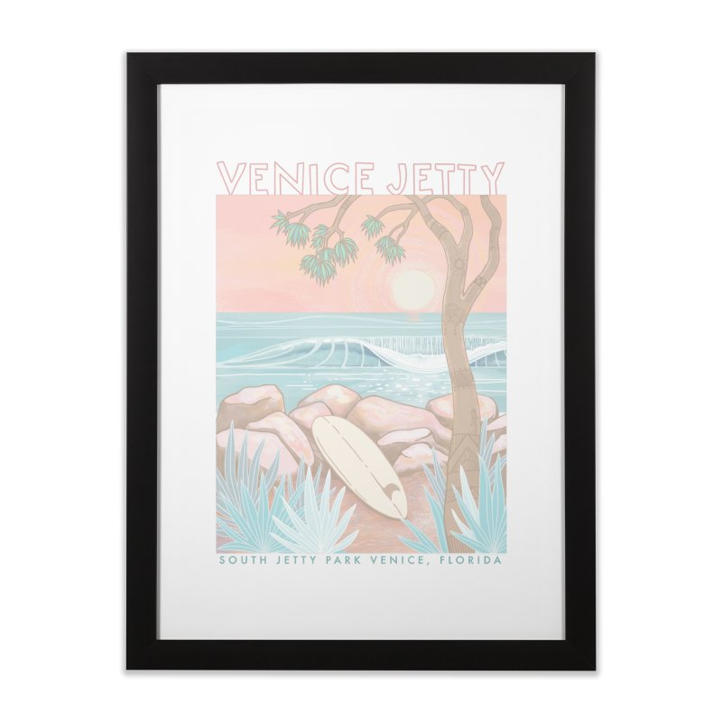 Venice Jetty Home Framed Fine Art Print by Chapman at Sea // surf art by Tash Chapman