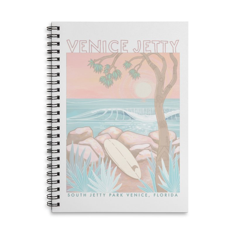 Venice Jetty Accessories Notebook by Chapman at Sea // surf art by Tash Chapman