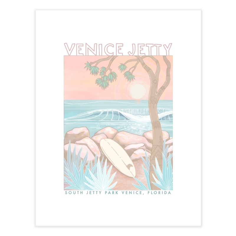 Venice Jetty Home Fine Art Print by Chapman at Sea // surf art by Tash Chapman