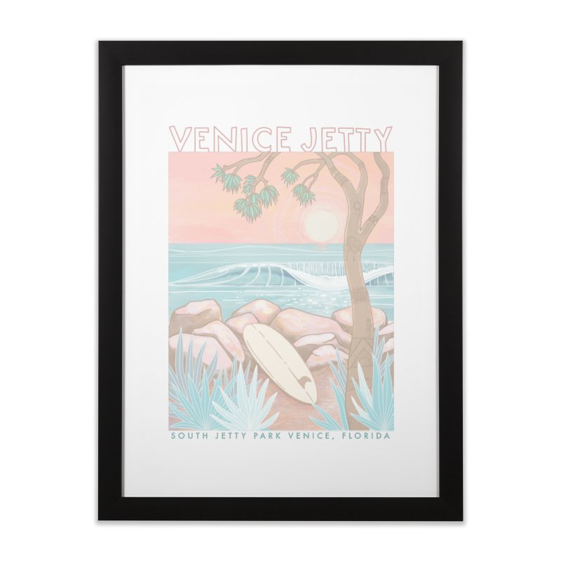 Venice Jetty Home Framed Fine Art Print by Chapman at Sea // surf art by Tash Chapman