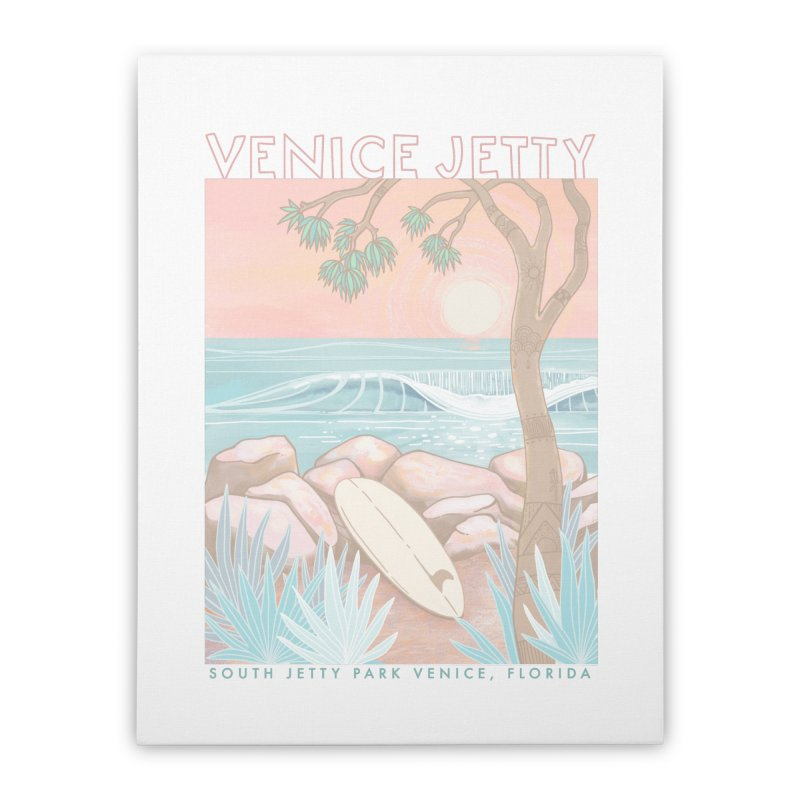 Venice Jetty Home Stretched Canvas by Chapman at Sea // surf art by Tash Chapman
