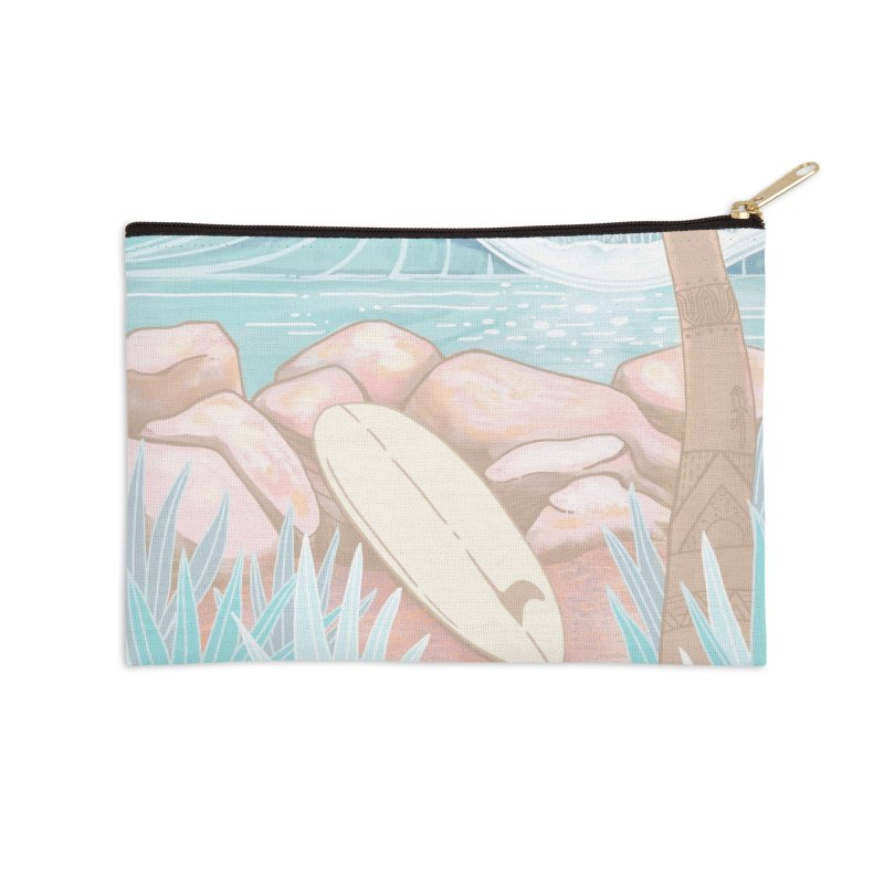 Venice Jetty Accessories Zip Pouch by Chapman at Sea // surf art by Tash Chapman