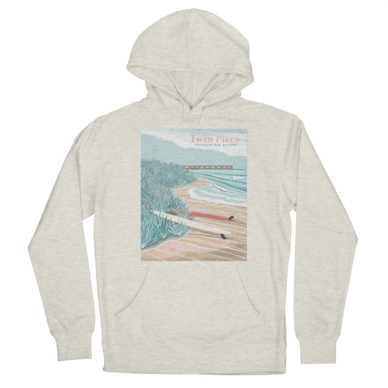 Twin Piers Men's Pullover Hoody by Chapman at Sea // surf art by Tash Chapman