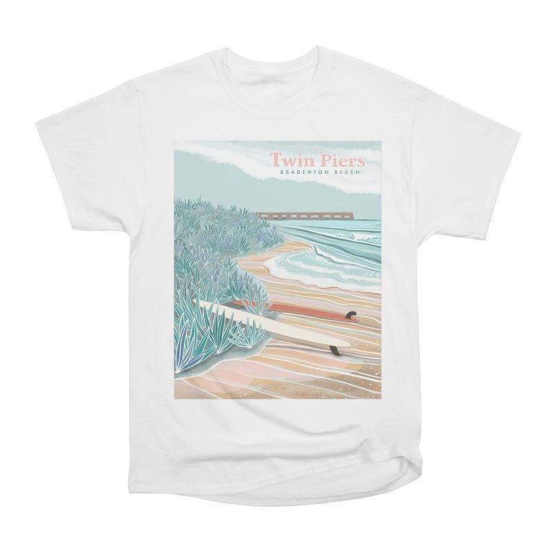 Twin Piers Women's T-Shirt by Chapman at Sea // surf art by Tash Chapman