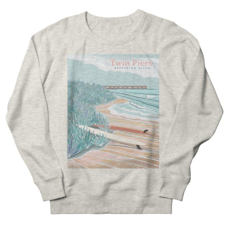 Twin Piers Women's Sweatshirt by Chapman at Sea // surf art by Tash Chapman