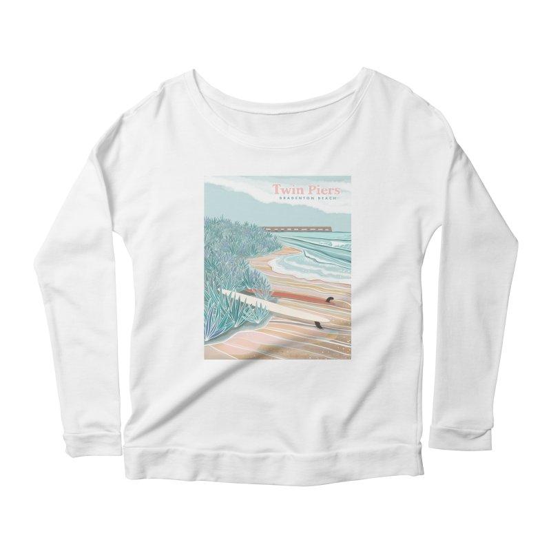Twin Piers Women's Longsleeve T-Shirt by Chapman at Sea // surf art by Tash Chapman