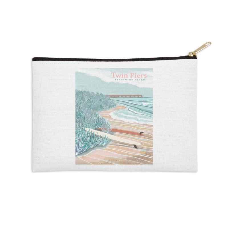 Twin Piers Accessories Zip Pouch by Chapman at Sea // surf art by Tash Chapman