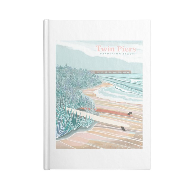 Twin Piers Accessories Notebook by Chapman at Sea // surf art by Tash Chapman