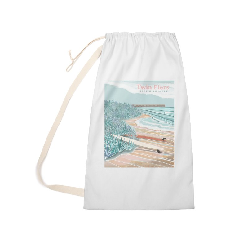 Twin Piers Accessories Bag by Chapman at Sea // surf art by Tash Chapman