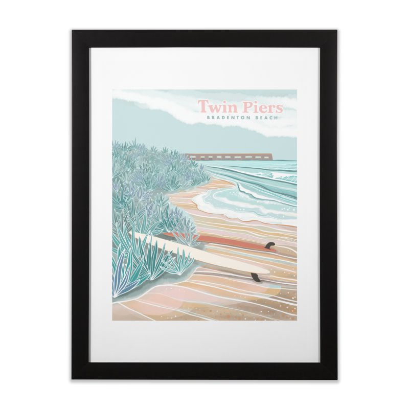 Twin Piers Home Framed Fine Art Print by Chapman at Sea // surf art by Tash Chapman