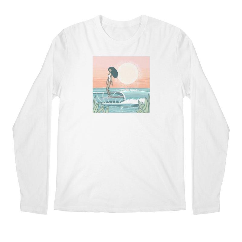The Islander Men's Longsleeve T-Shirt by Chapman at Sea // surf art by Tash Chapman