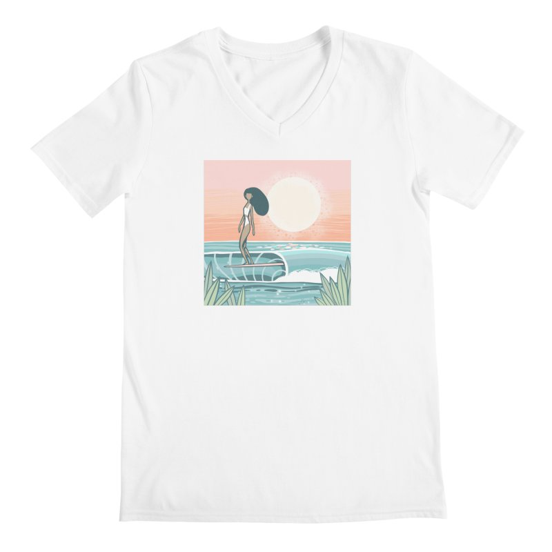 The Islander Men's V-Neck by Chapman at Sea // surf art by Tash Chapman