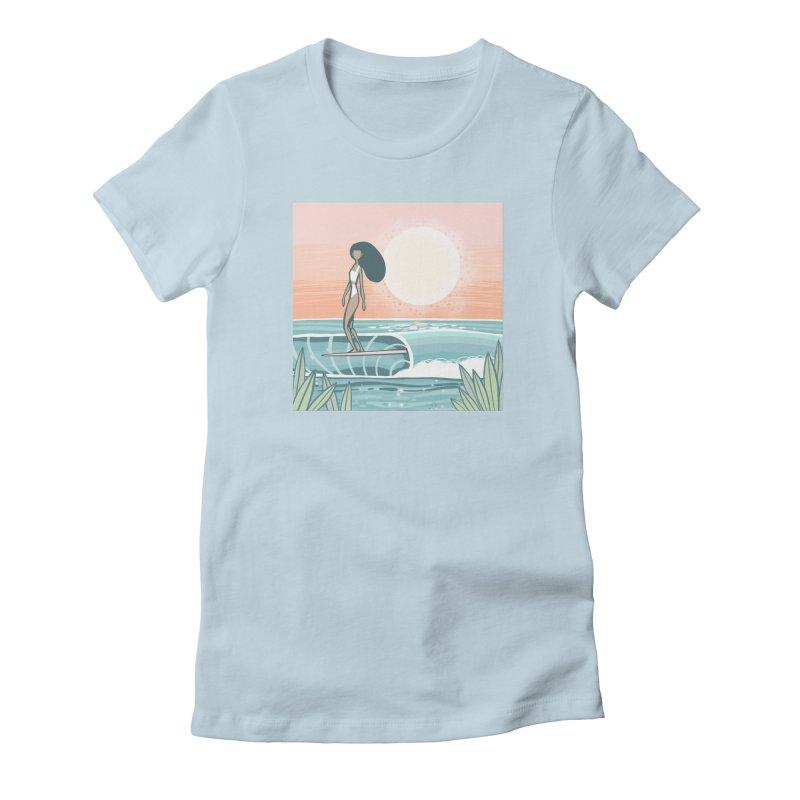 The Islander Women's T-Shirt by Chapman at Sea // surf art by Tash Chapman