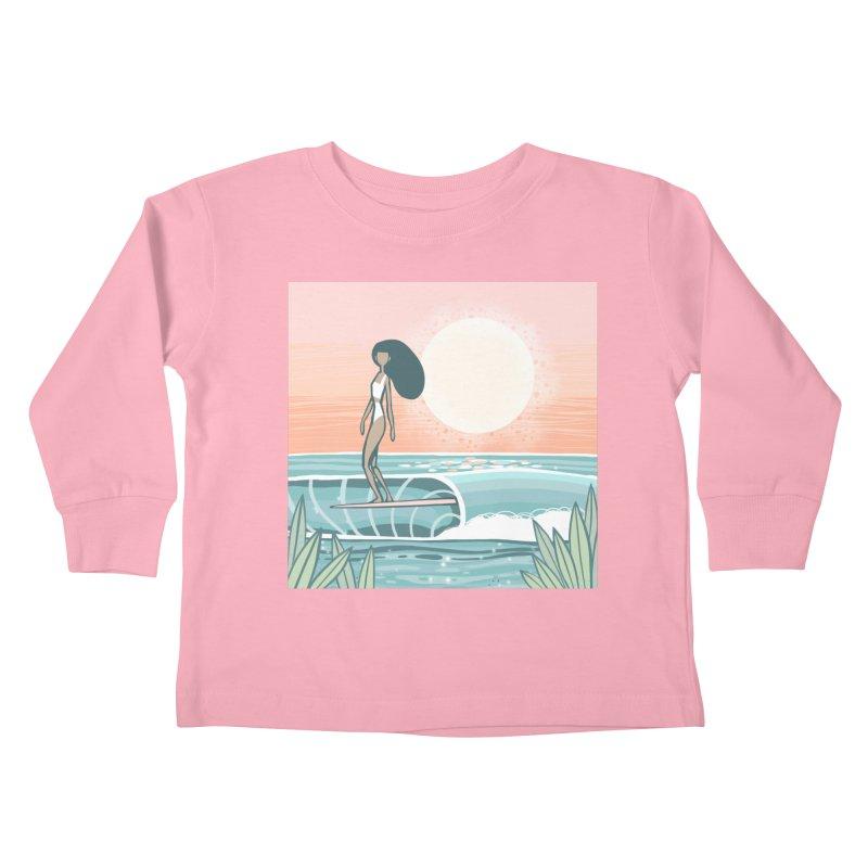 The Islander Kids Toddler Longsleeve T-Shirt by Chapman at Sea // surf art by Tash Chapman