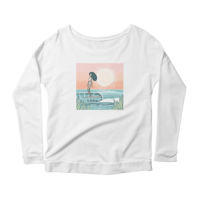 The Islander Women's Longsleeve T-Shirt by Chapman at Sea // surf art by Tash Chapman