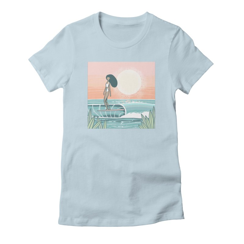 The Islander Women's T-Shirt by Chapman at Sea // surf art by Tash Chapman