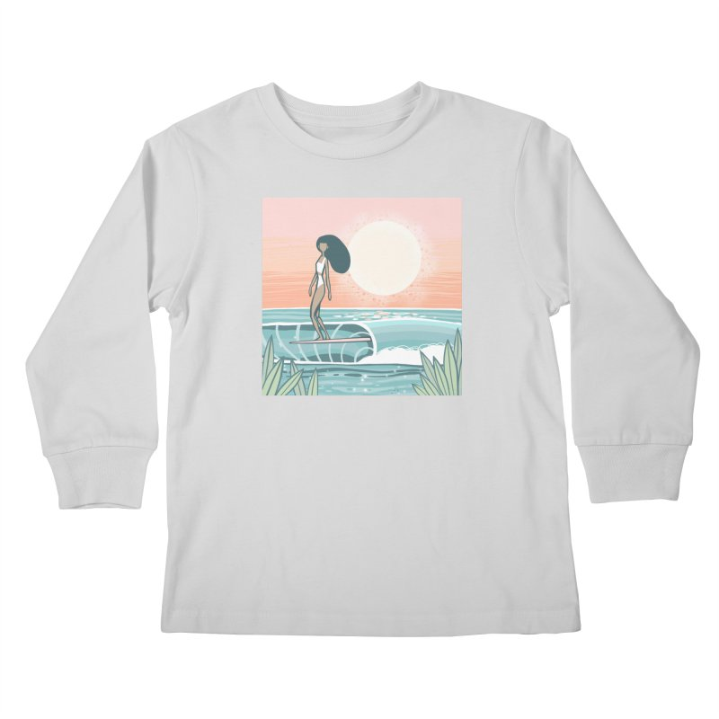 The Islander Kids Longsleeve T-Shirt by Chapman at Sea // surf art by Tash Chapman