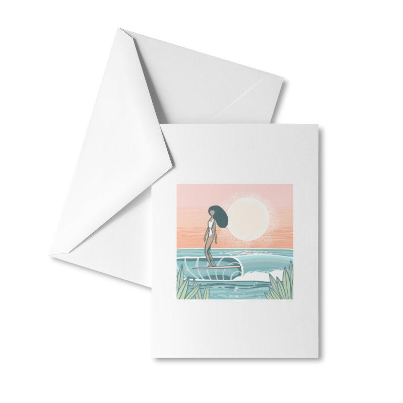 The Islander Accessories Greeting Card by Chapman at Sea // surf art by Tash Chapman