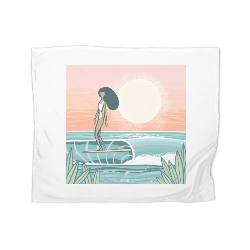The Islander Home Blanket by Chapman at Sea // surf art by Tash Chapman