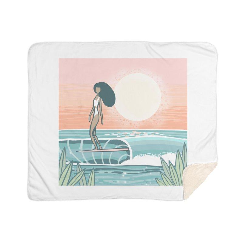 The Islander Home Blanket by Chapman at Sea // surf art by Tash Chapman