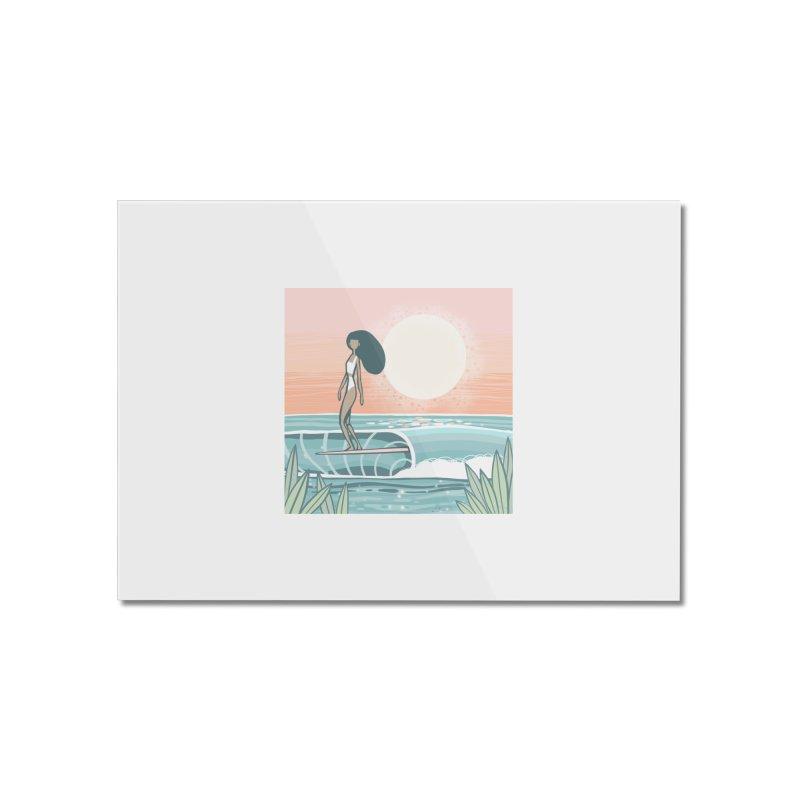 The Islander Home Mounted Acrylic Print by Chapman at Sea // surf art by Tash Chapman