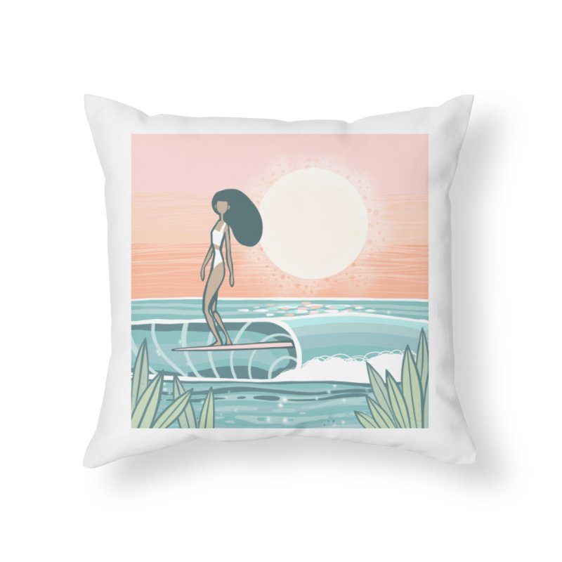 The Islander Home Throw Pillow by Chapman at Sea // surf art by Tash Chapman
