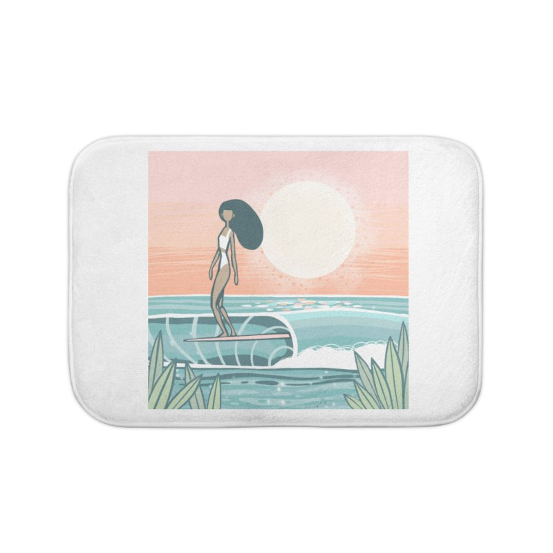 The Islander Home Bath Mat by Chapman at Sea // surf art by Tash Chapman