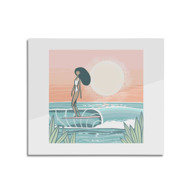 The Islander Home Mounted Aluminum Print by Chapman at Sea // surf art by Tash Chapman