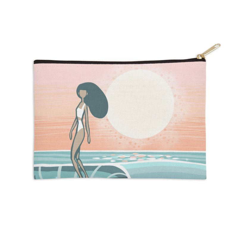 The Islander Accessories Zip Pouch by Chapman at Sea // surf art by Tash Chapman