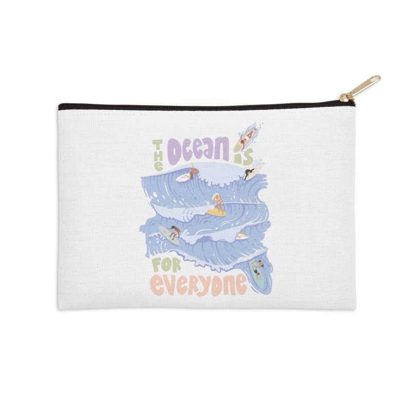 Kindness is Cool Accessories Zip Pouch by Chapman at Sea // surf art by Tash Chapman