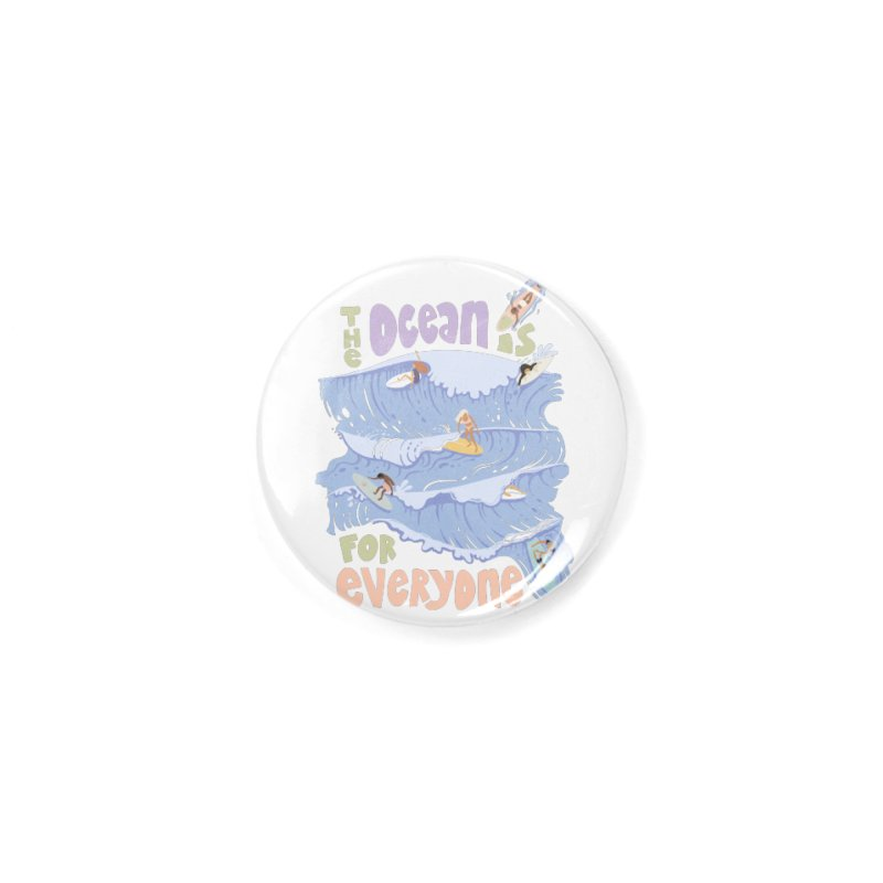 Kindness is Cool Accessories Button by Chapman at Sea // surf art by Tash Chapman