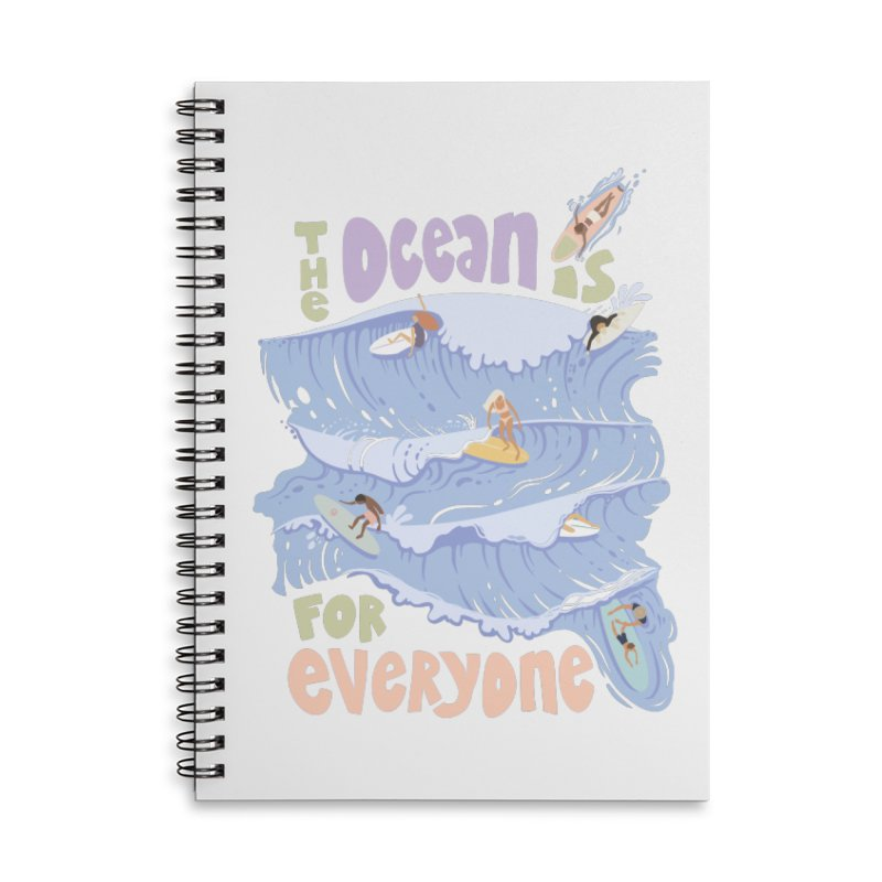 Kindness is Cool Accessories Notebook by Chapman at Sea // surf art by Tash Chapman